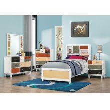 Lemoore Transitional White Full Five-piece Set