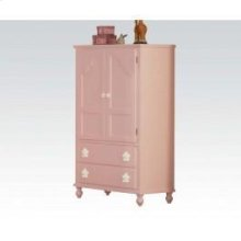 Pink W/wh Flower TV Armoire