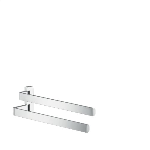 Brushed Chrome Towel holder twin-handle
