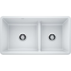 Blanco Precis Reversible 1-3/4 Bowl With Low Divide - White