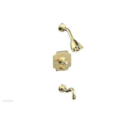 HENRI Pressure Balance Tub and Shower Set 161-29 - Polished Brass Uncoated
