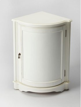 This corner cabinet end table is the perfect piece to add purpose and style to your living space. A smooth finesse and clean line, the table looks gorgeous in almost every interior. The triangular shape of this table fits perfect in any corner, which also