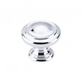 Dome Knob 1 1/8 Inch - Polished Chrome
