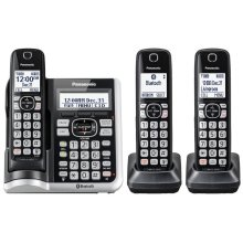 Link2Cell Bluetooth® Cordless Phone with Answering Machine - 3 Handsets - KX-TGF573S