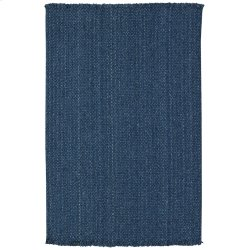 Hampton Denim Blue Flat Woven Rugs