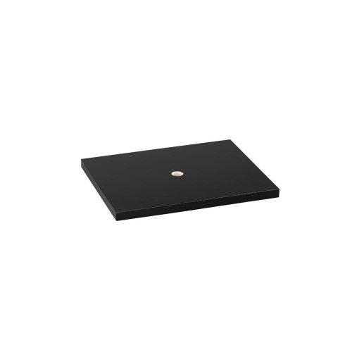 "Catalina 22"" Wood Vanity Top Counter in Black - Solid"