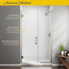 Frameless Swing Shower Door and Panel - 46x47  American Standard - Brushed Nickel