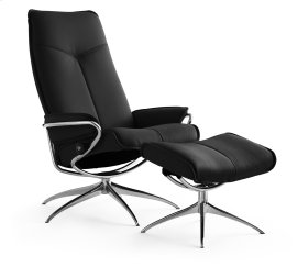 Stressless City High Back Star Base Chair and Ottoman