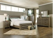 Zelen - Warm Gray 3 Piece Bed Set (Queen) Product Image