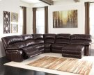 Damacio - Dark Brown 5 Piece Sectional Product Image