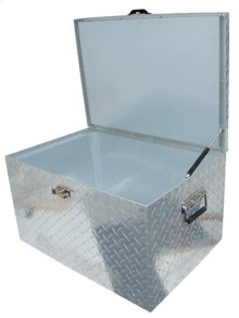 60QT. DIAMOND PLATED COOLER