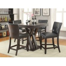 Transitional Counter-height Table and Stool Set