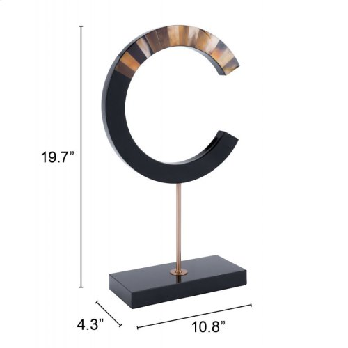 C-shape With Marble Stand Black