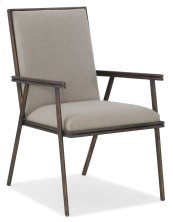 Dining Room Miramar Carmel Fairview Metal Upholstered Arm Chair