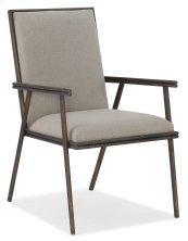 Dining Room Miramar Carmel Fairview Metal Upholstered Arm Chair
