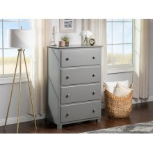 Atlantic 4 Drawer 48 inch Chest in Atlantic Grey