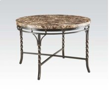 DINING TABLE W/FAUX MARBLE @N
