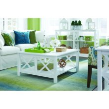 Square Coffee Table in Pure White