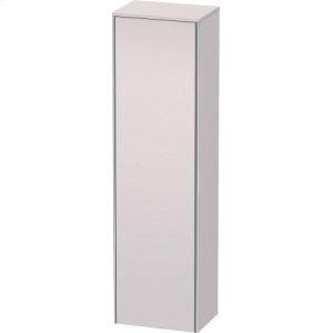 Tall Cabinet, White Lilac Satin Matt Lacquer