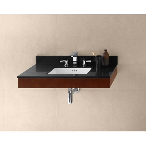 "Adina 31"" Wall Mount Bathroom Vanity Base Cabinet in Dark Cherry"