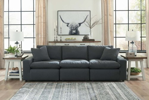 Savesto - Charcoal 3 Piece Sectional