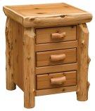 Cedar Three Drawer Nightstand - Traditional Cedar Product Image