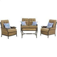 Hudson Square 4-Piece Deep-Seating Lounge Set