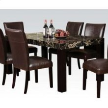 Adolph Black Faux Dining Table