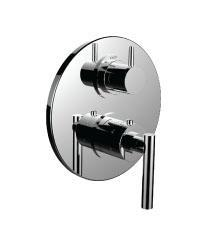 """1/2"""" Thermostatic Trim With 3-way Diverter Trim (shared Function) in Standard Pewter"""