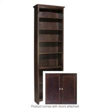 """CAF 84""""H x 24""""W McKenzie Alder Bookcase w/doors"""