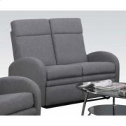 Gray Linen Loveseat W/motion Product Image