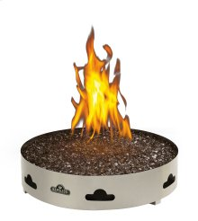 Napoleon Patioflame® outdoor gas firepit with glass embers.