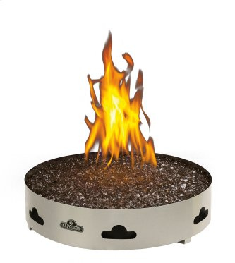 Napoleon Patioflame(R) outdoor gas firepit with glass embers.