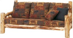 Cedar Log Frame Sofa - 7' - Standard Fabric - Includes Fabric and Cushions