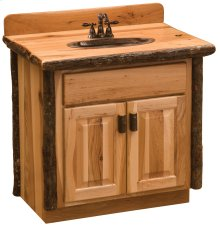 Hickory Vanity - Custom - without Top - Espresso (will work with you to build to customer's specifications)