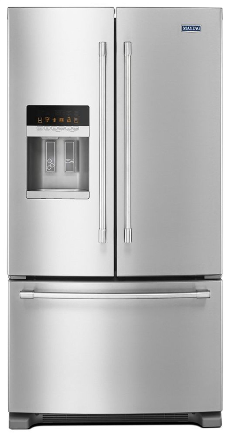 36- Inch Wide French Door Refrigerator with PowerCold® Feature - 25 Cu  Ft