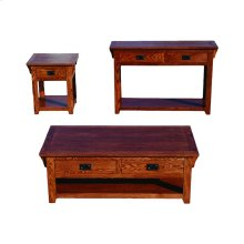 O-M257 Mission Oak 2-Drawer Console Table