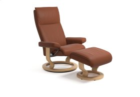 Stressless Aura Small Classic Base Chair and Ottoman