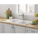 American StandardQuince 33 x 22 Double Bowl Cast Iron Kitchen Sink  American Standard - Brilliant White