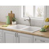 Quince 33 x 22 Double Bowl Cast Iron Kitchen Sink  American Standard - Brilliant White
