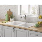 Quince 33 x 22 Double Bowl Cast Iron Kitchen Sink  American Standard - Brilliant White