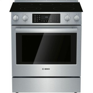 Bosch800 Series Electric Slide-in Range 30'' Stainless Steel HEI8056U