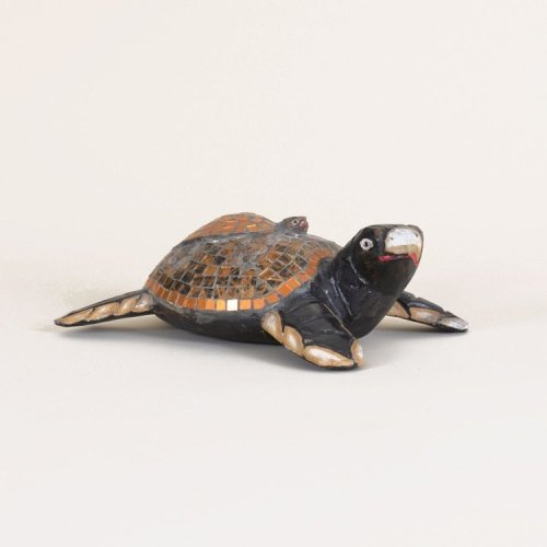 Wooden Mosaic Turtle With Baby