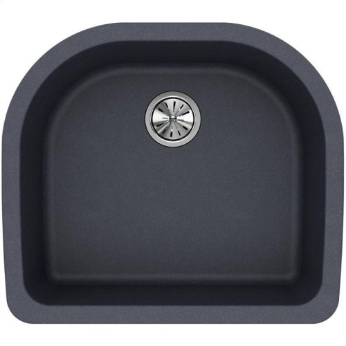 "Elkay Quartz Classic 25"" x 22"" x 8-1/2"", Single Bowl Undermount Sink, Dusk Gray"