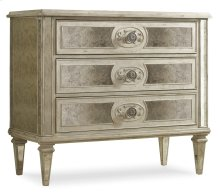 Living Room Three Drawer Antique Mirrored Chest