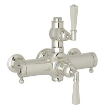 Polished Nickel Palladian Exposed Thermostatic Valve with Metal Lever