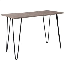 Driftwood Wood Grain Finish Console Table with Black Metal Legs