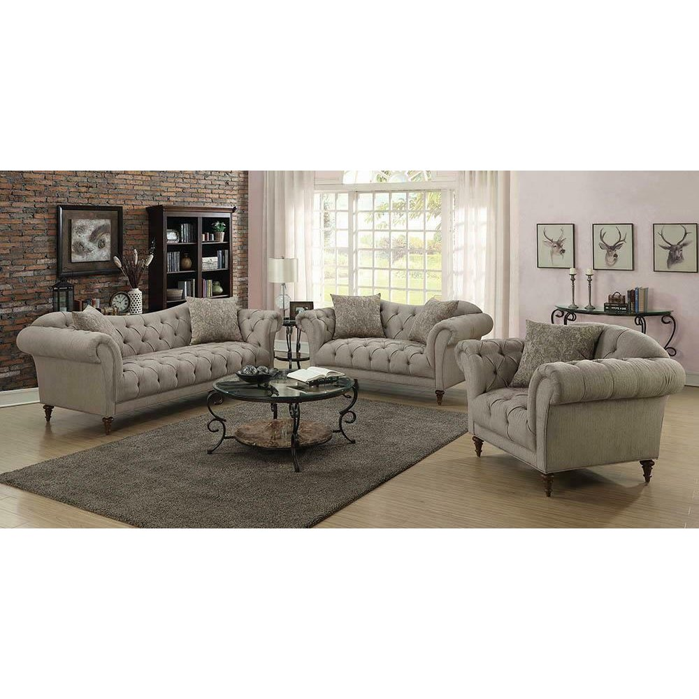 Alasdair Traditional Light Brown Loveseat