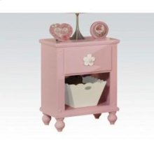 Pink W/wh Flower Nightstand