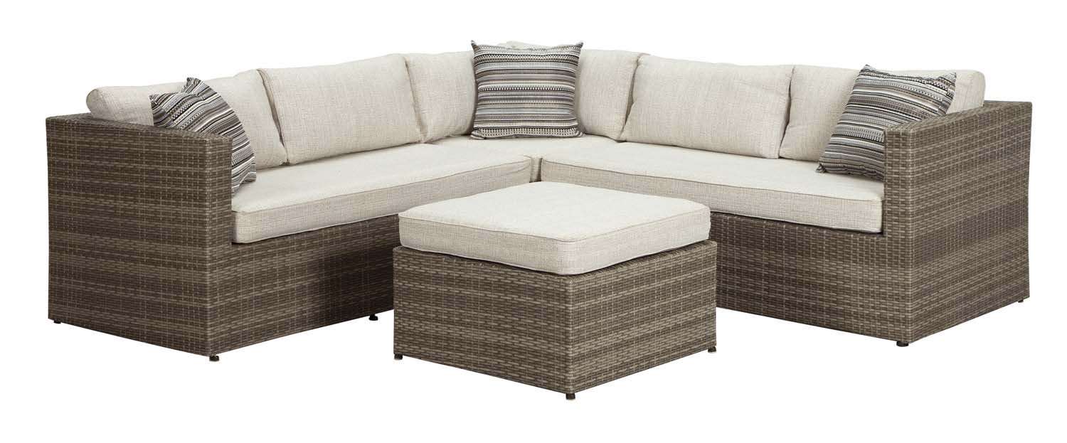 Peckham Park   Beige/Brown 2 Piece Patio Set